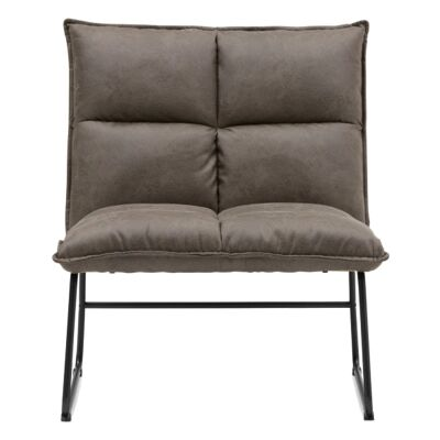 Cayman PU Leather Lounge Chair, Brown