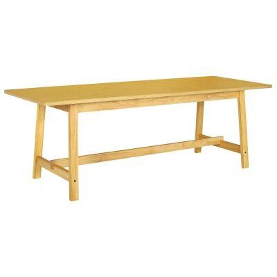 Heyne Wooden Trestle Dining Table, 220cm