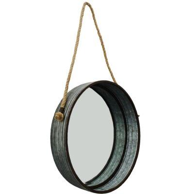 Alison Metal Frame Round Hanging Wall Mirror, 40cm
