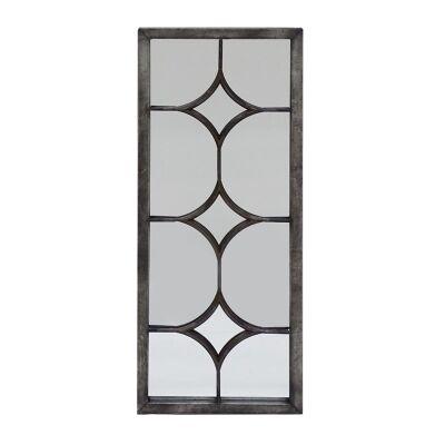 Audrey Metal Frame Wall Mirror, Curved Diamond Lattice, 90cm