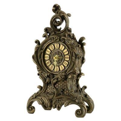 Cast Bronze Baroque Table Clock, Small