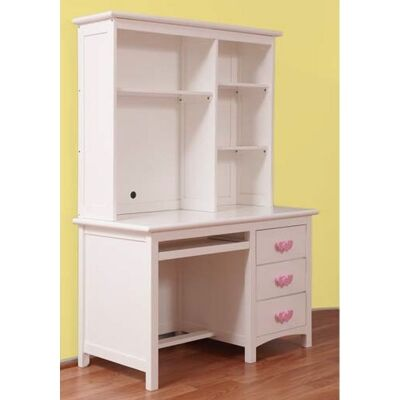 Hearts Wooden Wooden Desk with Hutch