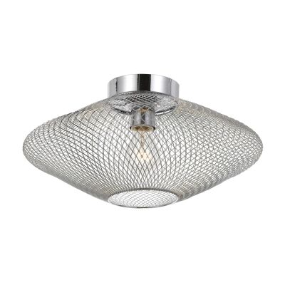 Henry Metal Mesh Batten Fix Ceiling Light, Chrome