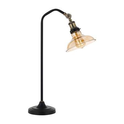 Hertel Metal & Glass Desk Lamp