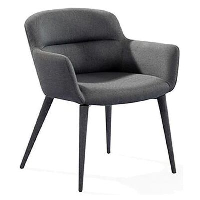 Henderson Fabric Dining Armchair, Charcoal