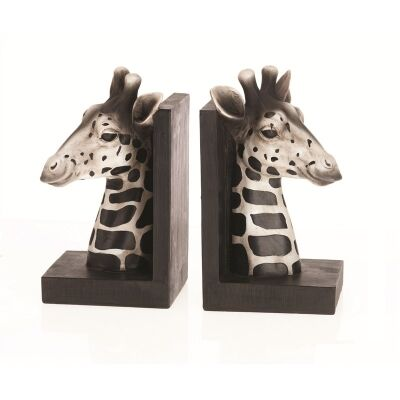 Polyresin Giraffe Bookends - H22cm