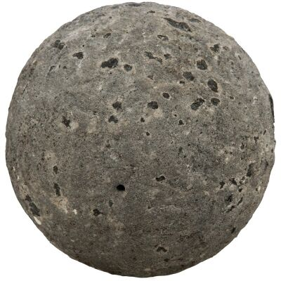 Sully Cement Decor Ball, Large, Grey