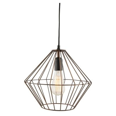 Nereus Galvanized Iron Wire Conical Pendant Light