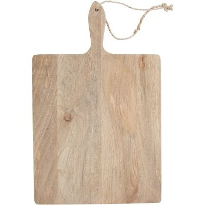Blayney Solid Mango Wood Timber Rectangular Serving Board with Handle - Large