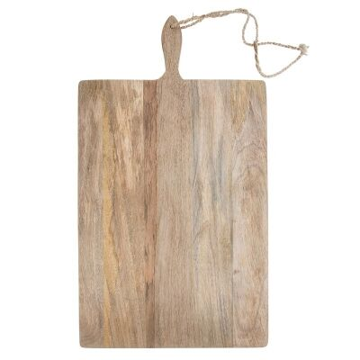 Blayney Solid Mango Wood Timber Rectangular Serving Board with Handle - Medium