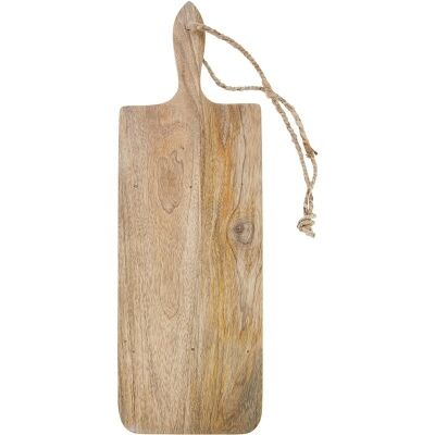 Blayney Solid Mango Wood Timber Long Serving Board with Handle - Medium