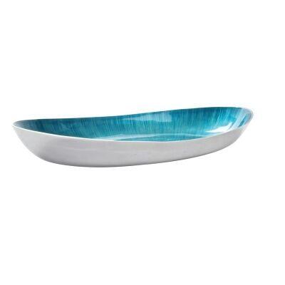 Aqua Brushed Oval Dish-53cm