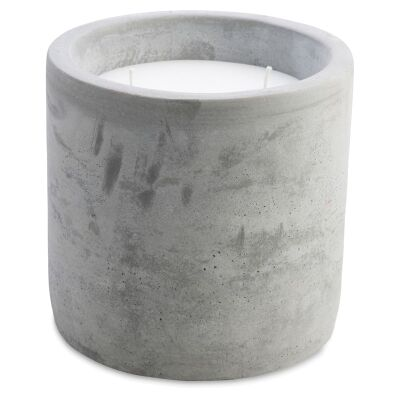 Moore Cement Candle Holder with Metal Lid - Large