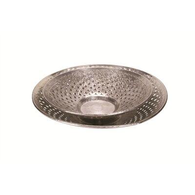 Set of 2 Abstract Cutwork Aluminium Bowl