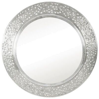 Harker Vine Cutout Aluminium 68cm Round Wall Mirror