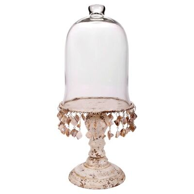 Shell Footed Cake Stand with Dome