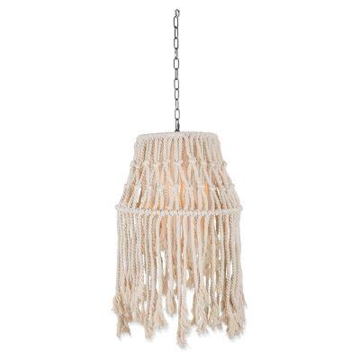 Avoca Cotton Rope Canopy Pendant Light - Small