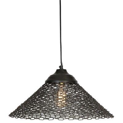 Chainlink Iron Tapered Shade Pendant Light - Black