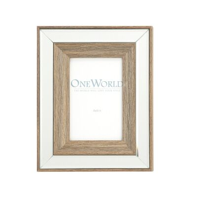 Seymour Mirrored Wooden Photo Frame, 4x6""