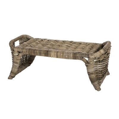 Aubusson Rattan Tray Table