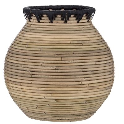 Tanah Handwoven Rattan Vase, Large
