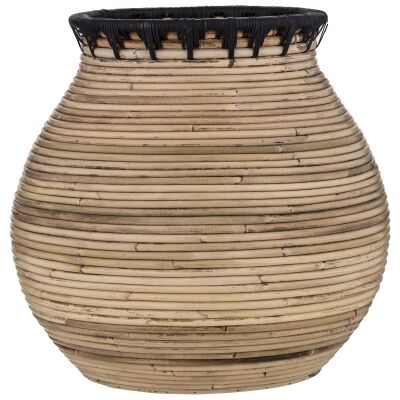 Tanah Handwoven Rattan Vase, Small