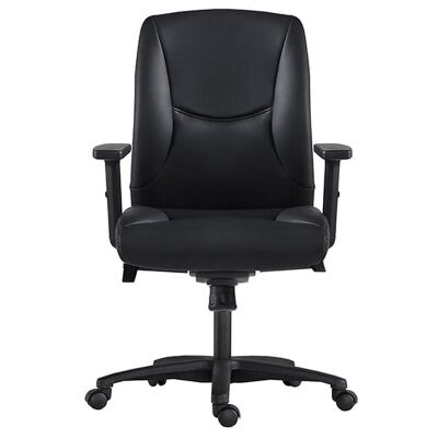 Hilton PU Leather Executive Office Chair, Low Back