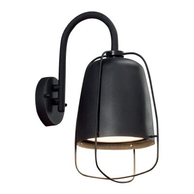 Hink IP44 Metal Outdoor Wall Light, Matt Black