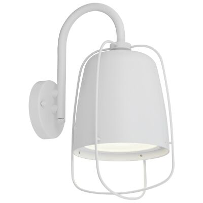 Hink IP44 Metal Outdoor Wall Light, Matt White