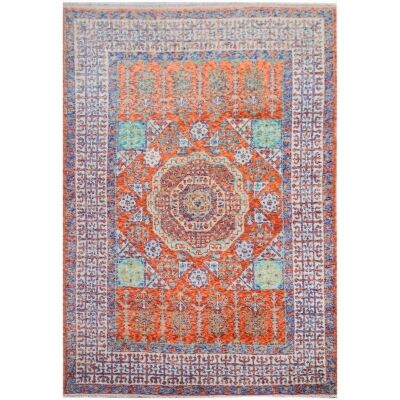 One of A Kind Kerys Hand Knotted Wool Afghan Kilim Rug, 238x170cm