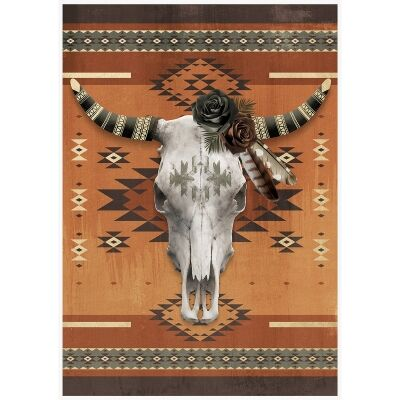 Tribal Canvas Art Print, The Aztec Wanderer, 92.5cm