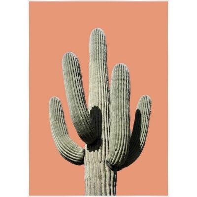 Bold Cactus Canvas Wall Art Print, Saguaro Sunset, 140cm