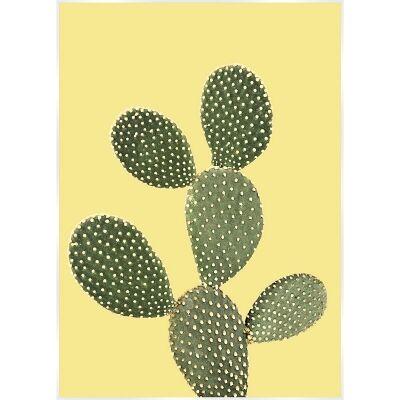 Bold Cactus Canvas Wall Art Print, Prickly Pear Sunshine, 140cm