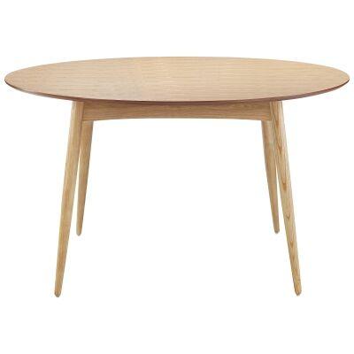 Atara Ash Timber Round Dining Table, 120cm