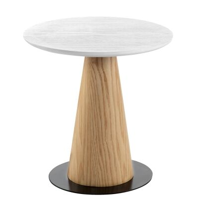Dallin Wooden Round Coffee Table, Tall
