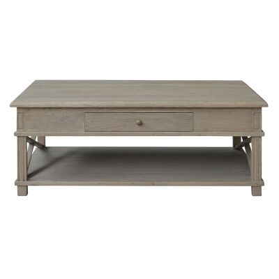 Phyllis Oak Timber Coffee Table, 120cm, Weathered Oak