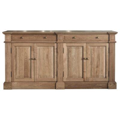 Robin Oak Timber 4 Door 2 Drawer Sideboard, 160cm, Natural Oak