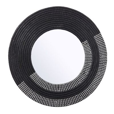 Azumah Seagrass Frame Round Wall Mirror
