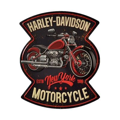 Retro Tin Wall Plaque, Harley Davidson Motorcycle