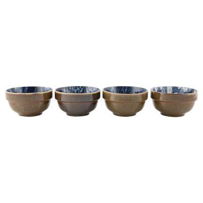 Murriverie 4 Piece Porcelain Bowl Set, Navy