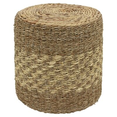 Umah Hand Woven Seagrass Round Side Table