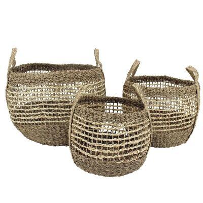 Umah 3 Piece Hand Woven Seagrass Basket Set