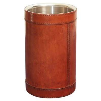 Winston Leather & Stainless Wine Chiller