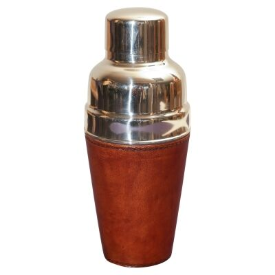 Winston Leather & Stainless Cocktail Shaker