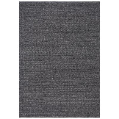 Harvest Handwoven Wool & Viscose Rug, 155x225cm, Charcoal