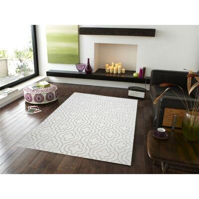 Decotex No.1061 Modern Wool Rug in Ivory - 110x160cm
