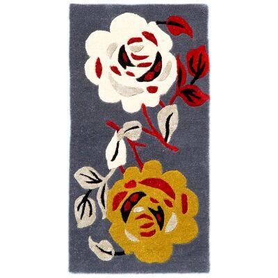 Botanical No.5052 Handmade Wool Rug, 120x60cm
