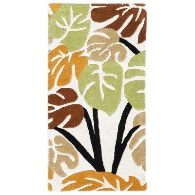 Botanical No.5055 Handmade Wool Rug, 120x60cm