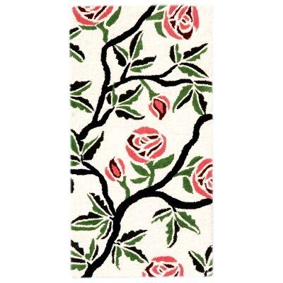 Botanical No.5056 Handmade Wool Rug, 120x60cm