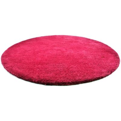 Bulloo Handmade Round Wool Rug, 90cm, Pink